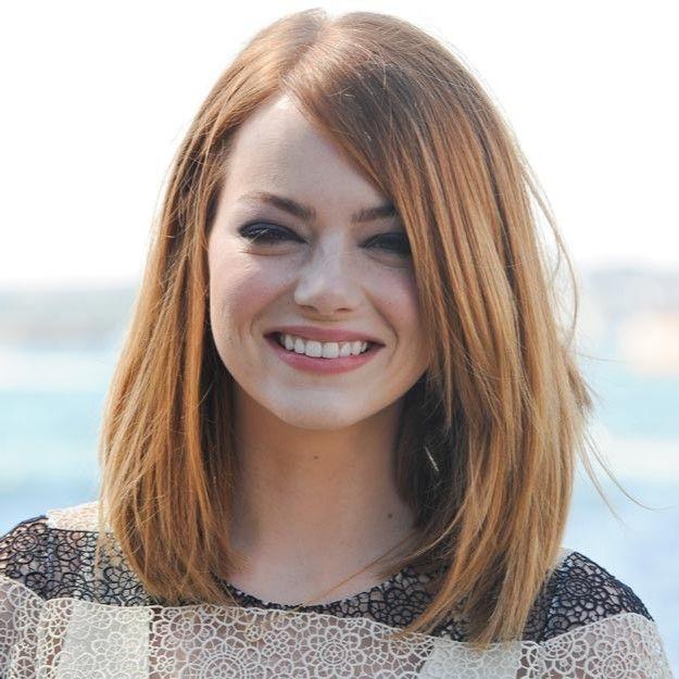 Long Bob Emma Stone Pesquisa Google Hair Pinterest Frisuren