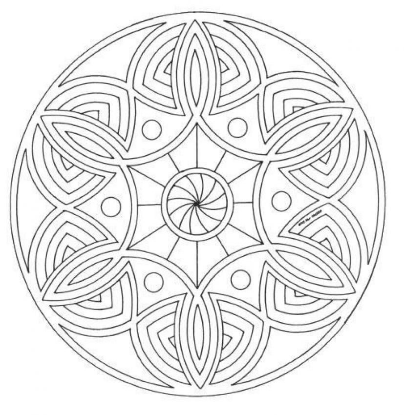 Mandalas For Advanced Mandala 18 Mandala Coloring Pages Mandala Coloring Coloring Pages