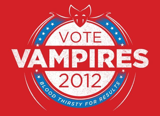"""Vote Vampires!"" - Threadless.com - Best t-shirts in the world"