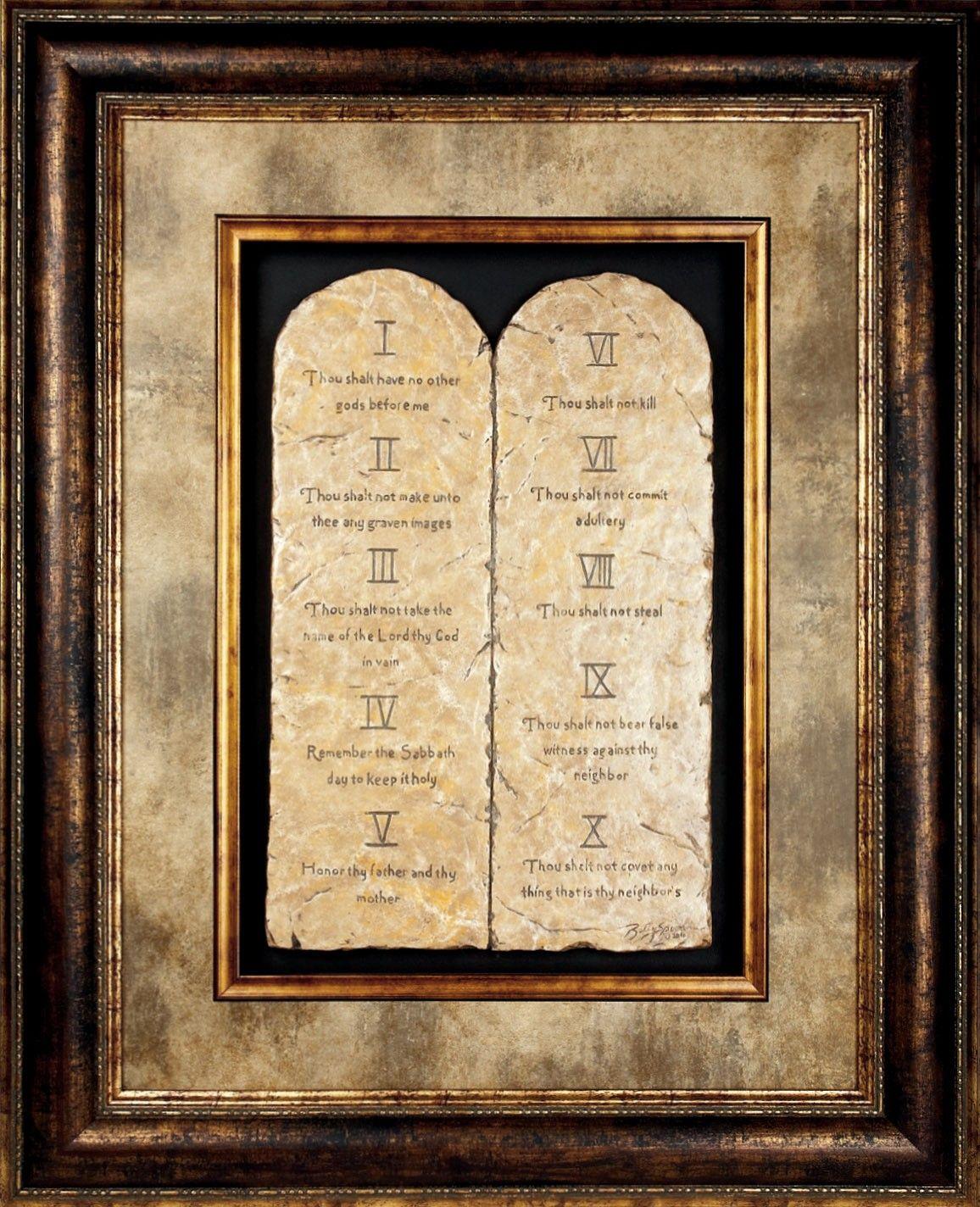 10 Commandments Framed Art Framed Art Familychristian Com Framed Art 10 Commandments Frame