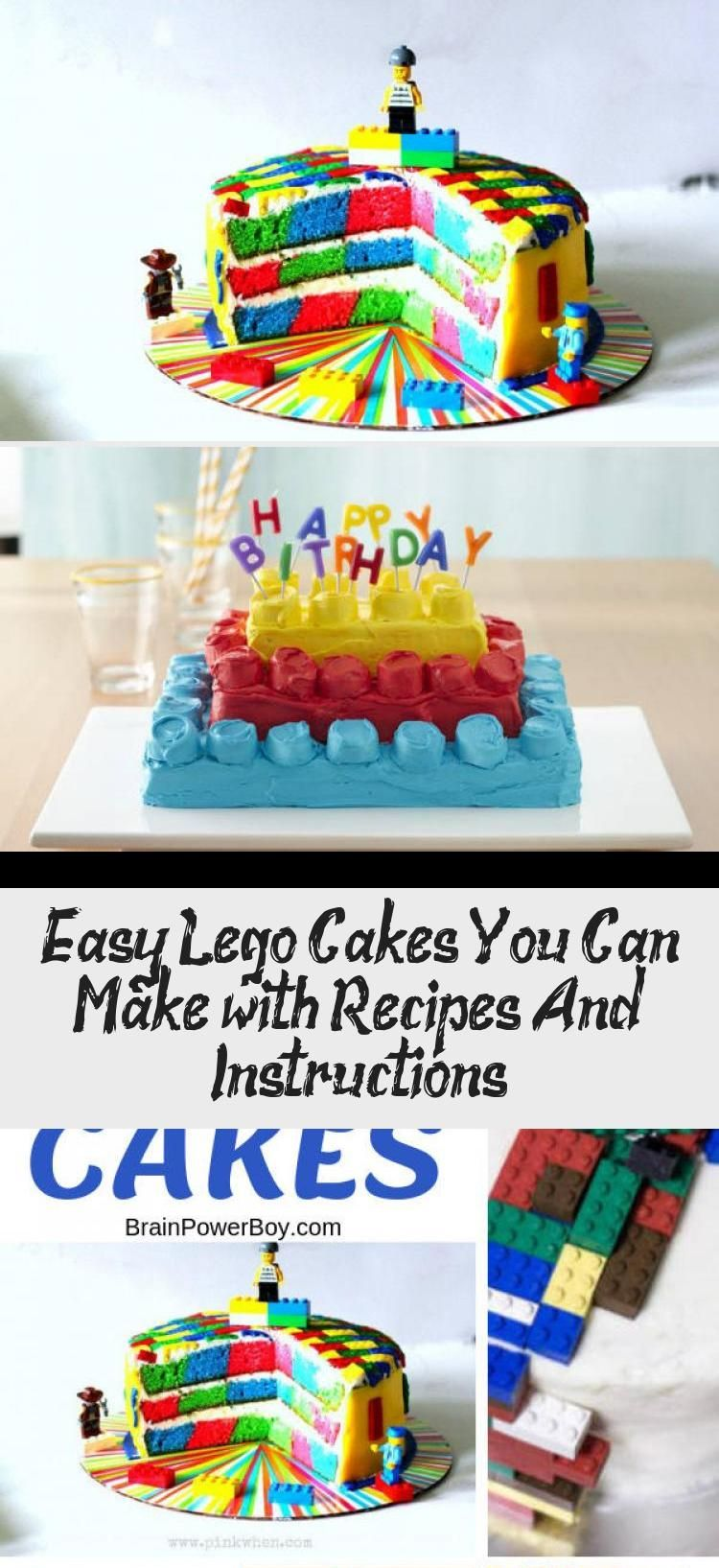 Easy lego cakes you can make with recipes and