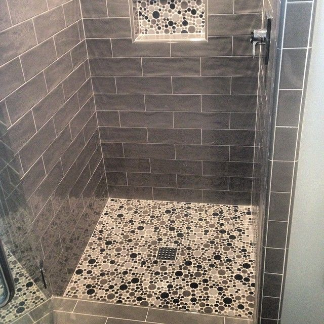Custom Shower Stall 3x8 Tile With A Mosaic Shower Pan And Niche