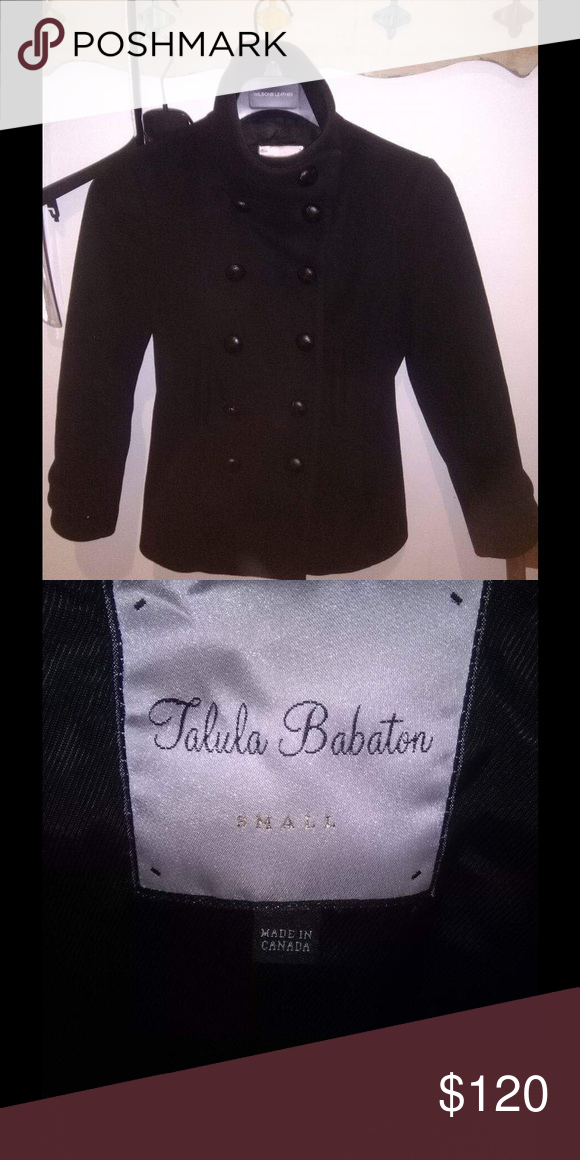 Aritzia BAbaton Talua wool coats Small black peacock cashemire and merino will. Perfect condition.  Just come from dry cleaner Aritzia Jackets & Coats Pea Coats