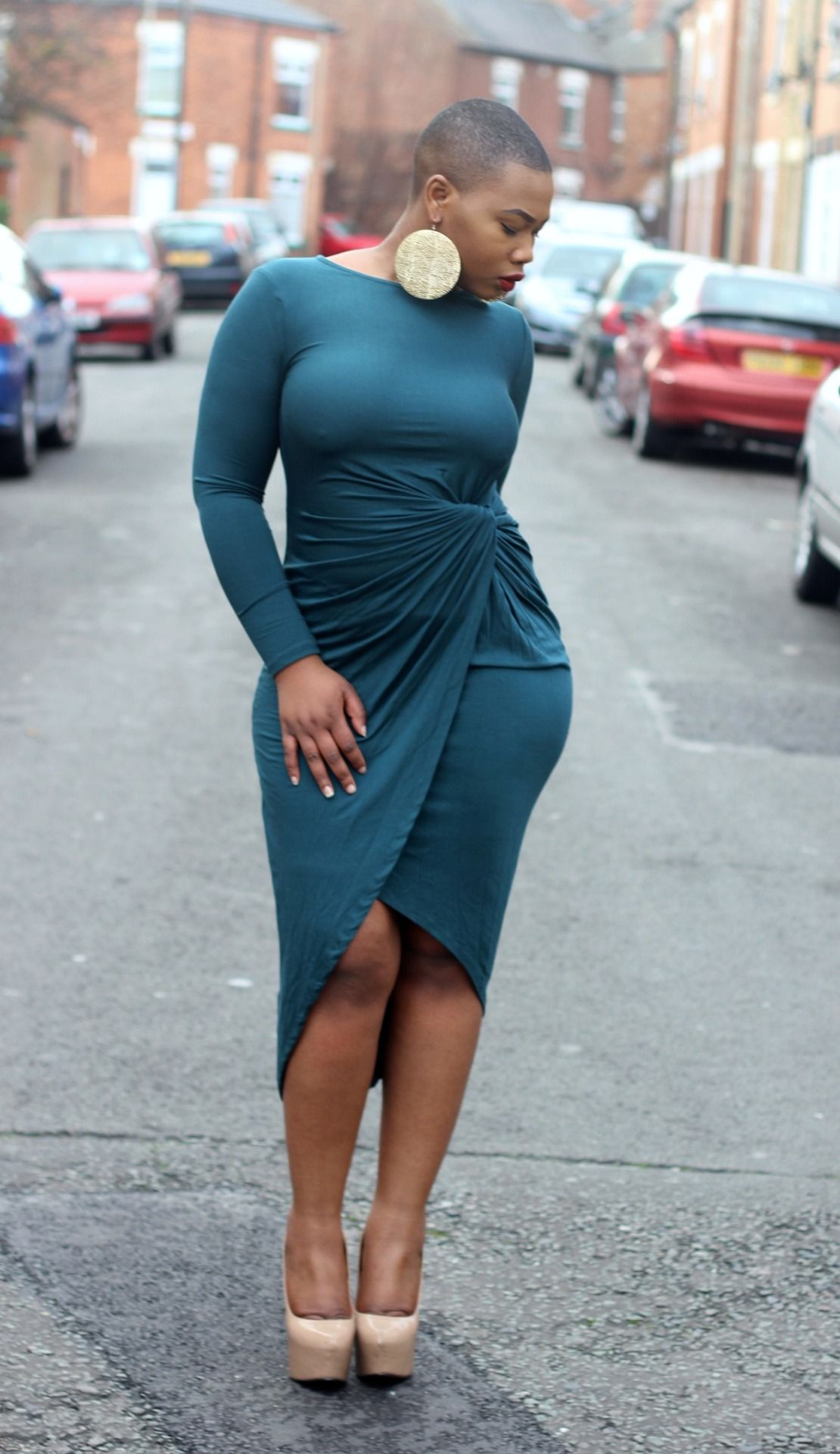 d6f482f0993 Asymmetrical Hems Round Neck Plus Size Bodycon Dress. Love this dress.  Perfect fit.
