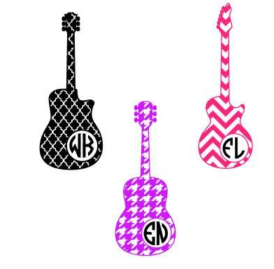 Guitar Monogram Decal Guitar Yeti Cup Decal Decal For Yeti Cup - Custom vinyl decals for guitars