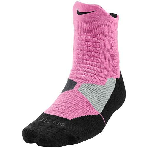 Nike Hyperelite High Quarter Socks Pink Glow Black With Images