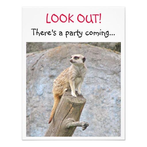 Meerkat Birthday Party Invitation Themed Kids Birthday Invitations