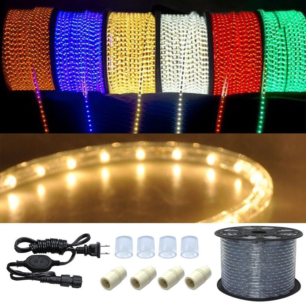 Light Ropes And Strings 50 100 150 Ft 110V Led Light Rope String Outdoor Tree Party Garden