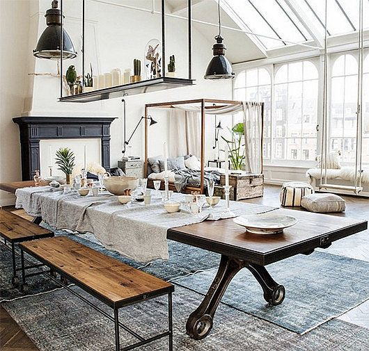 Interior design decoration home decor loft modern for Industrial home designs