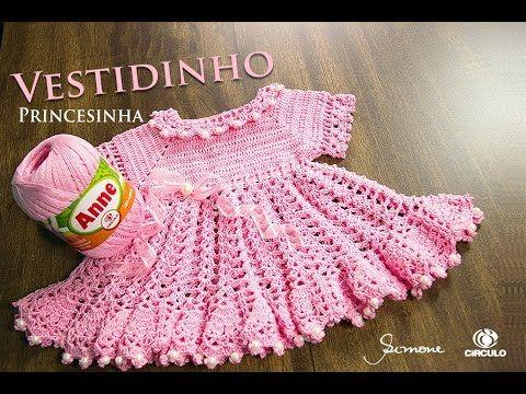 Vestidinho de Crochê Princesinha - Parte 1 - Anne - Professora ...