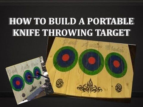 How To Build A Knife Target - A Portable Knife / Axe Throwing Target Board - YouTube