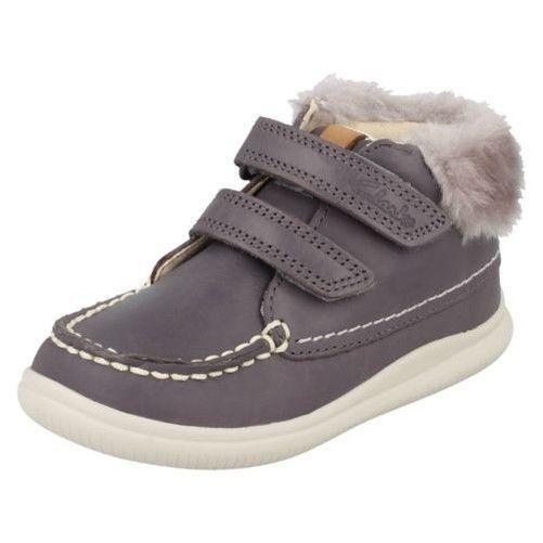600d41ef2ec Infant Girls Clarks Faux Fur Hook   Loop Leather Ankle Boots Cloud Flufi   fashion  clothing  shoes  accessories  kidsclothingshoesaccs  girlsshoes ( ebay ...