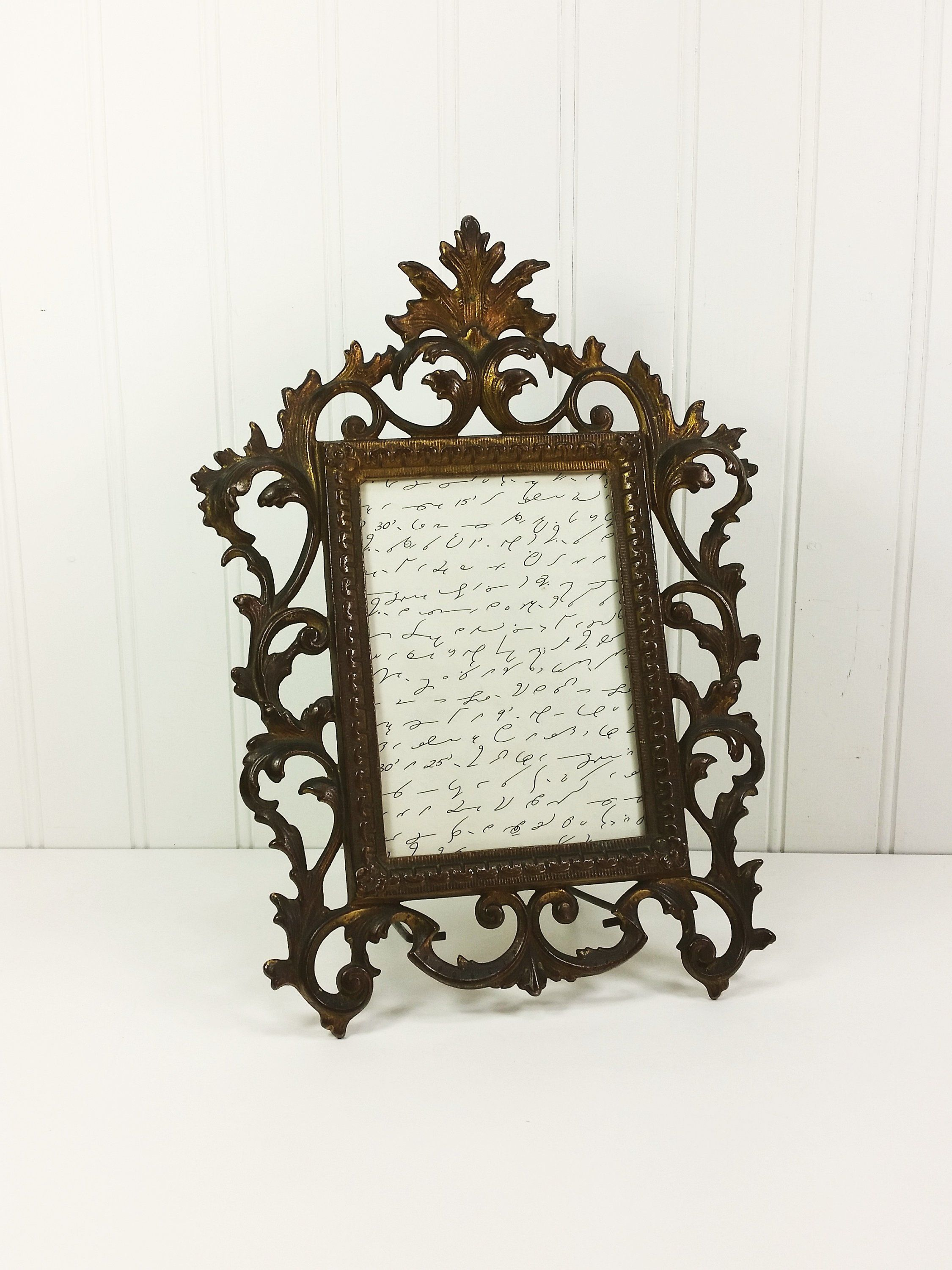 Antique Victorian Cast Metal Frame Large Ornate Filigree 12 Etsy Metal Picture Frames Victorian Frame Metal Frame