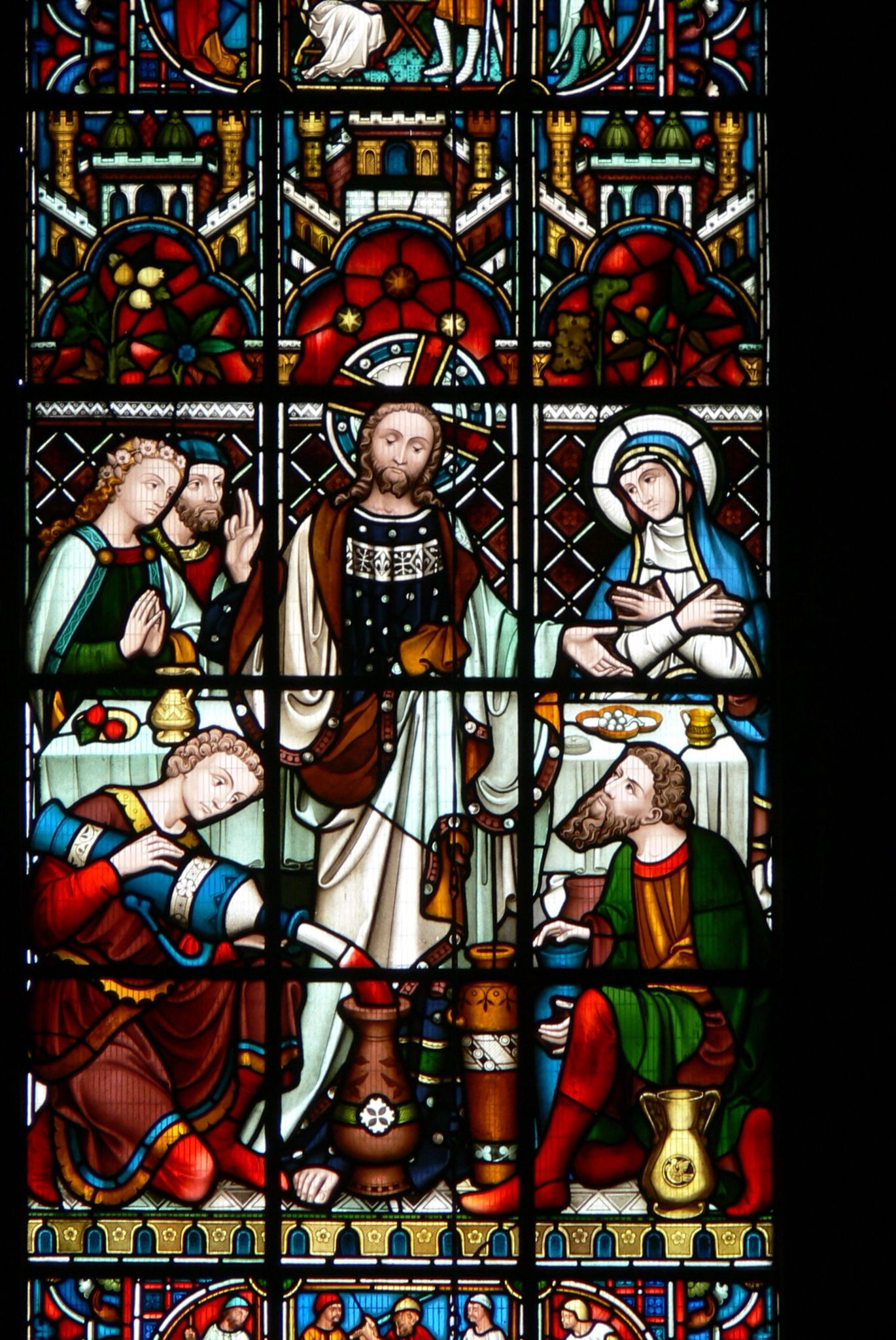 Cana Windows St John S Church Chester England Eastern Window Marriage At