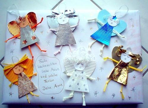 Weihnachten alt basteln engel als geschenkverpackung for Christbaumschmuck basteln
