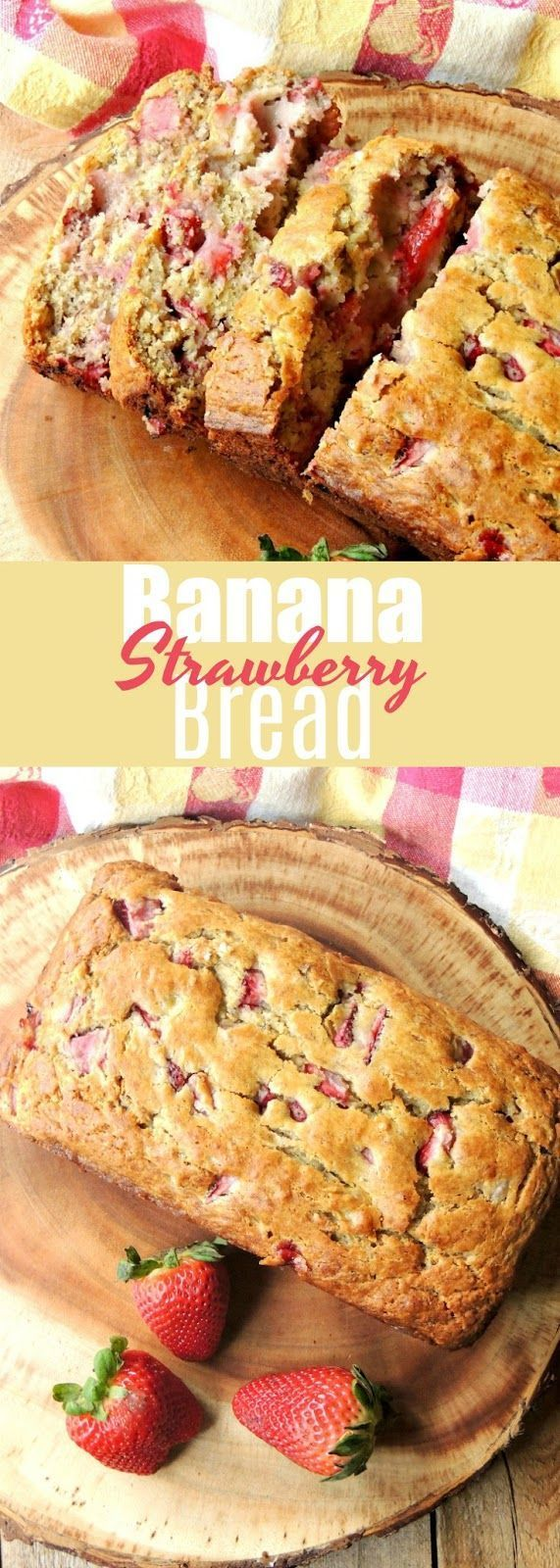 Strawberry Banana Bread - This bread recipe combines to of my favorite flavors i... Strawberry Banana Bread - This bread recipe combines to of my favorite flavors i...,