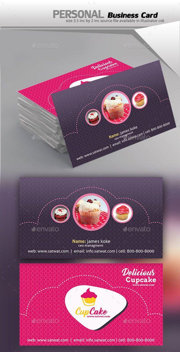 Cupcake Business Card Template Psd Vector Eps Ai Illustrator