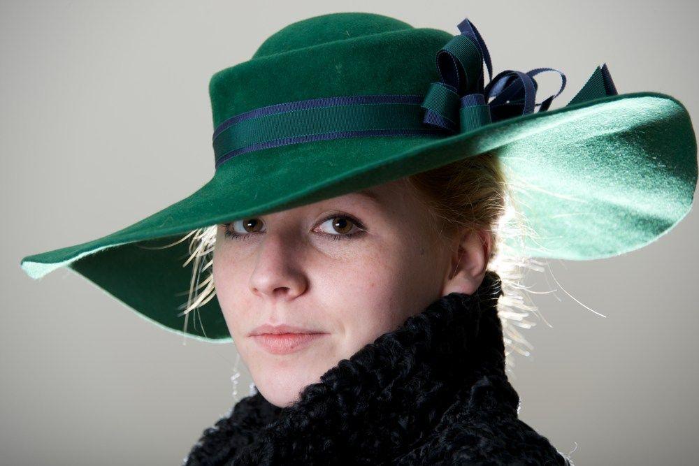 Fur Felt Velour Handmade Womens Hat Topper by