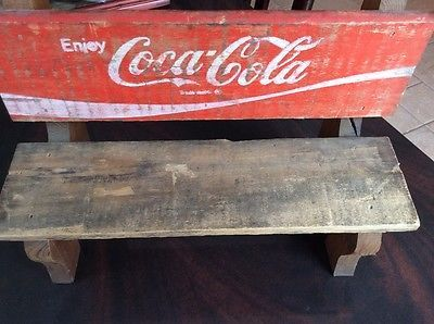 Coca Cola Mini Wooden Bench RARE