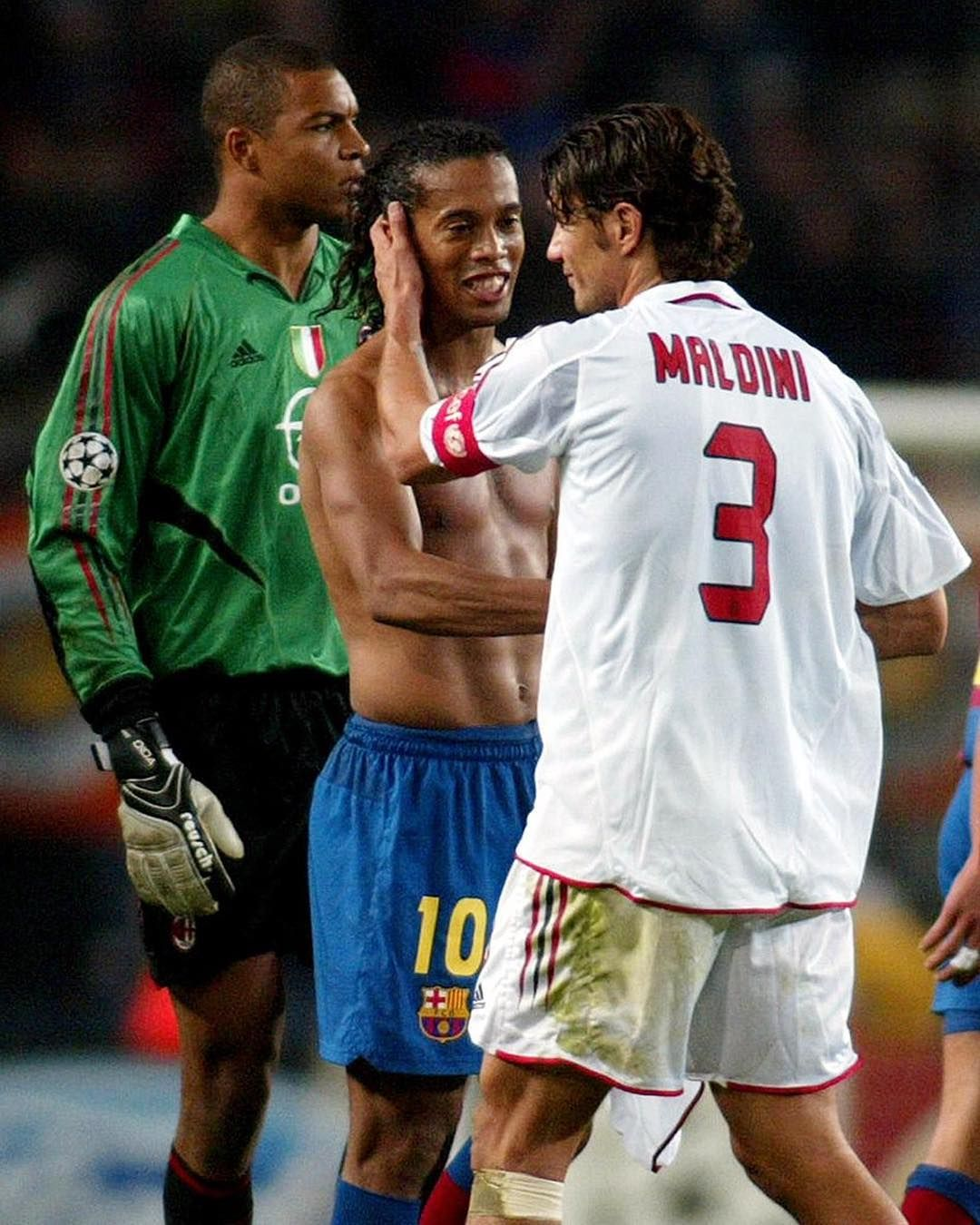 Ronaldinho Maldini Dida Legends Com Imagens