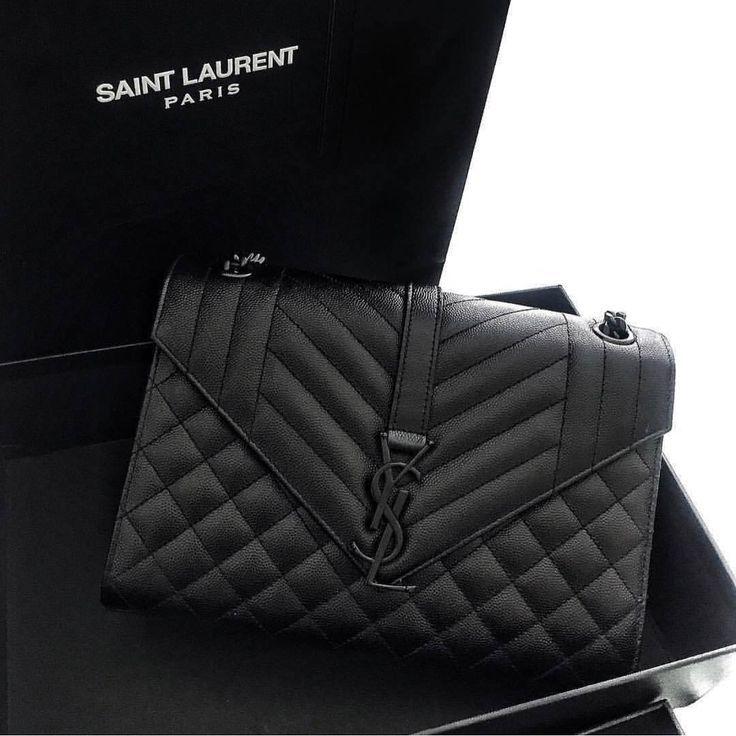 8e39e3a6d81f52 ENVELOPE MEDIUM BAG IN GRAIN DE POUDRE EMBOSSED LEATHER | Fashion ...
