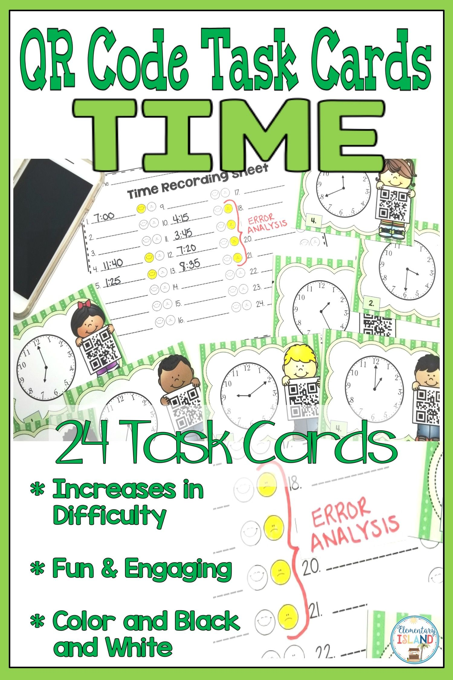 Qr Code Time Task Cards