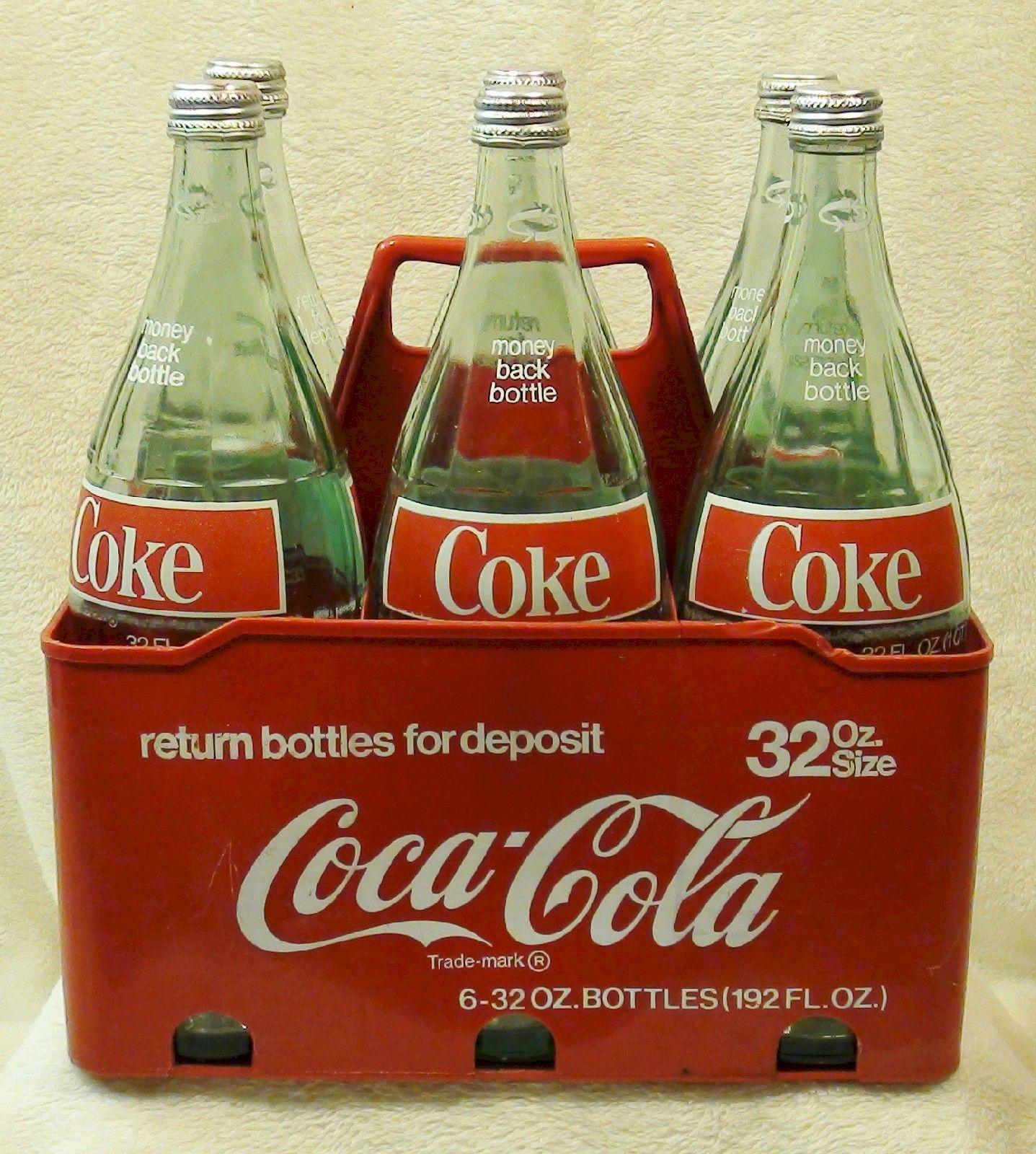 Vintage Giant 32 oz Glass Hobbleskirt Coke Bottles