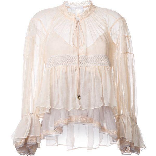 246160cf2bbd1 Chloé colour block tiered blouse (22