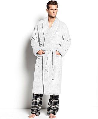 cd8706658200 Polo Ralph Lauren Men's Sleepwear, Fleece Shawl Collar Robe   Gifts ...