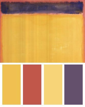 Yellow Color Palette Inspired By: Untitled (Blue, Yellow, Green on ...