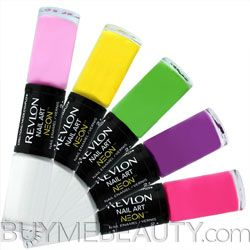 Revlon Nail Art Neon wanna have this!! i just have the revlon moonlit mauve :/