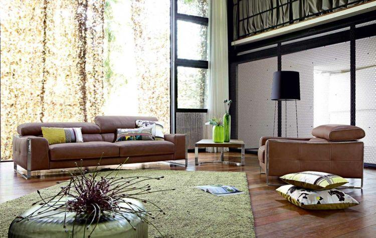 Wohnzimmer Ideen mit brauner Couch für ein angesagtes Interieur - Wohnzimmer Braunes Sofa