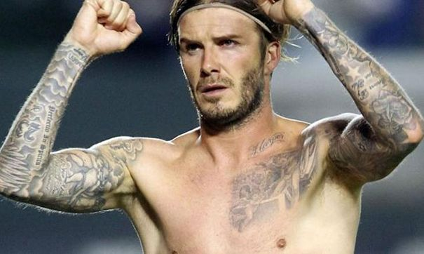 Celebrity Tattoos David Beckham Tattoos Chest Tattoo Men Celebrity Tattoos