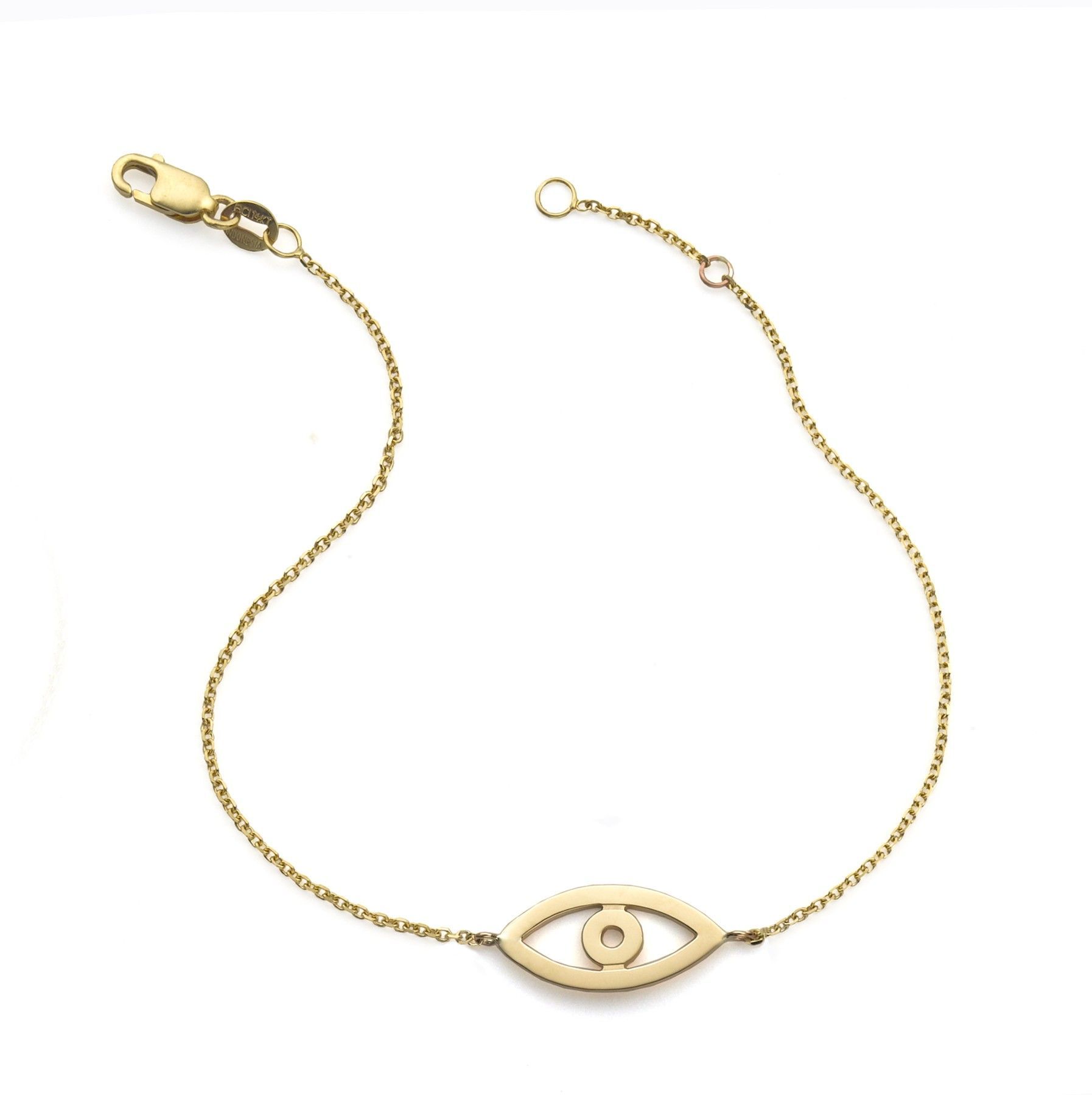 14kt Gold Evil Eye Bracelet Bracelets By Category Sarah Chloe