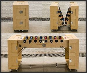 Beautiful CRATES Folding Furniture Would Love To Have The Foosball Table