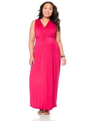 829efaa1f1038 Plus Size Sleeveless Babydoll Maternity Maxi Dress. I own this same ...