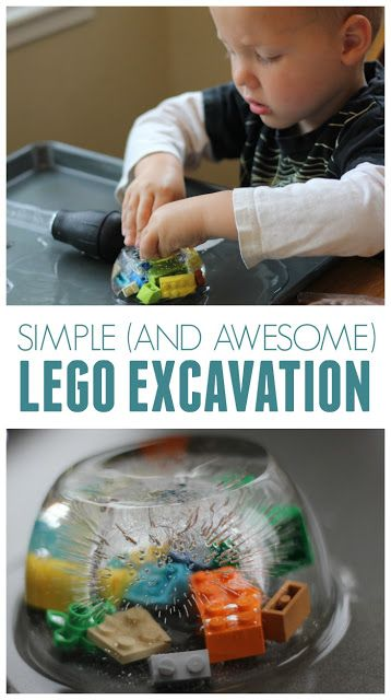 Toddler Approved!: Simple and Awesome LEGO Brick Ice Excavation