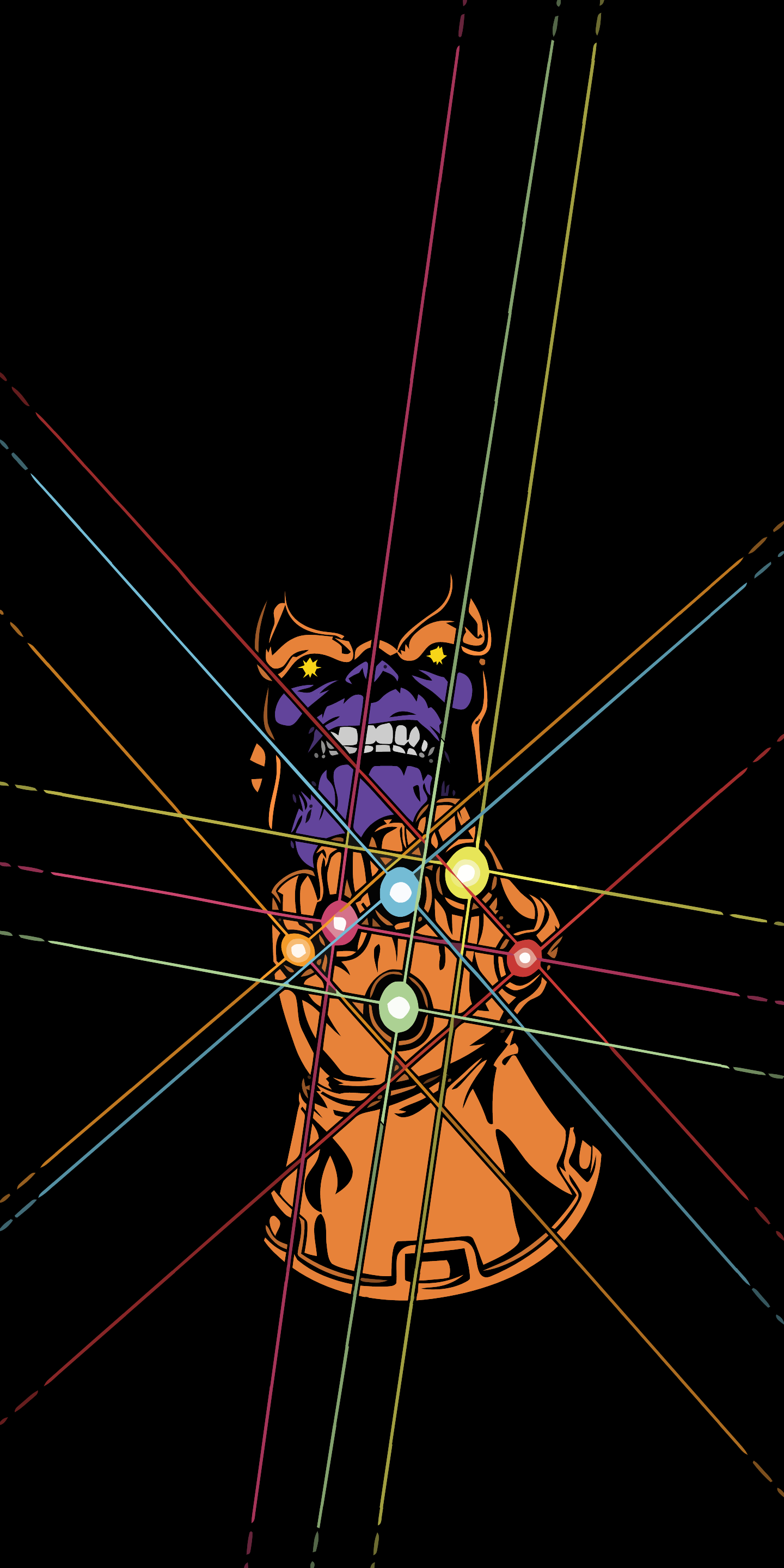 Infinity Gauntlet Thanos Amoled Wallpaper X