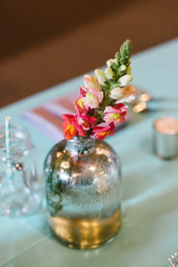 Peach and mint rustic wedding