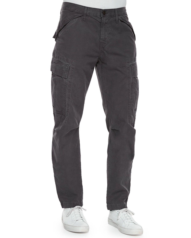 Collins Cargo-Pocket Utility Jogger Pants, Dark Gray