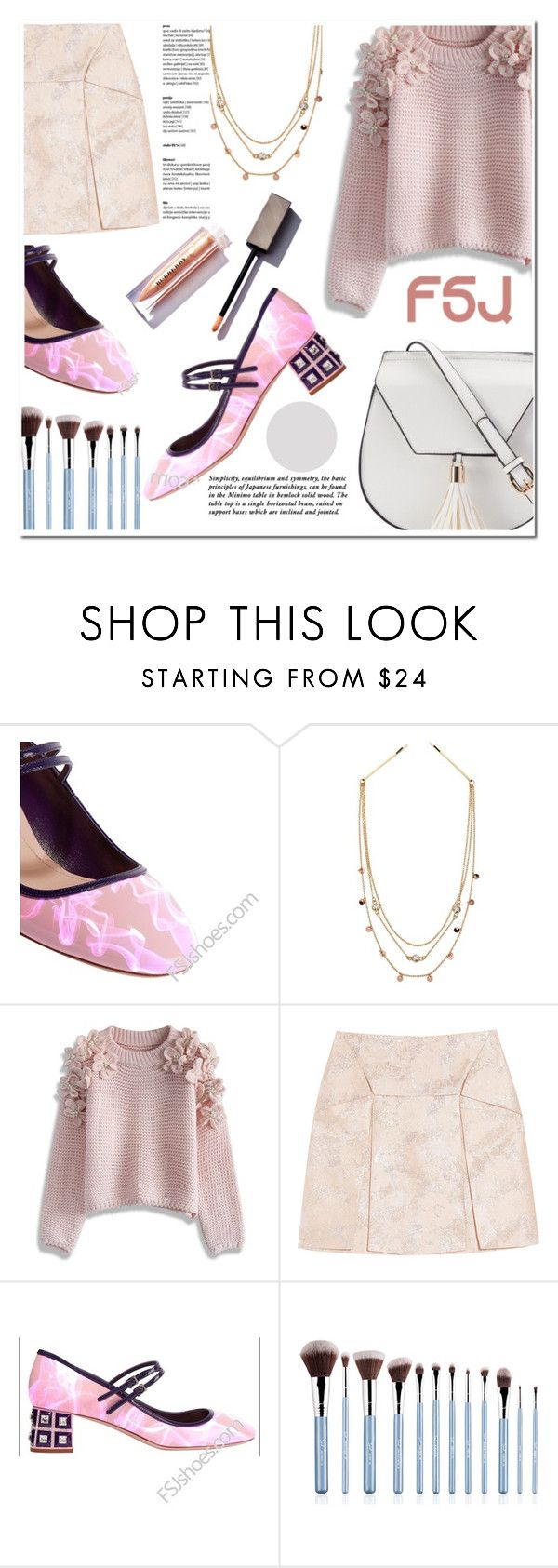 """FSJshoes"" by sofia10-1 ❤ liked on Polyvore featuring Topshop, Chicwish, Christopher Kane, Yoki and fsjshoes"