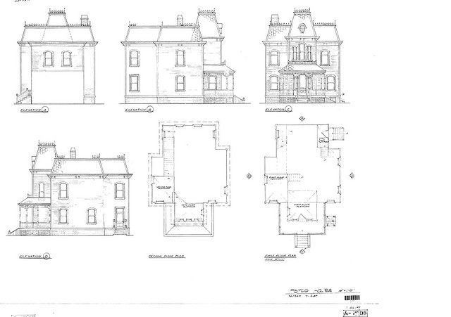Psycho house plan bates motel for Detailed house plans