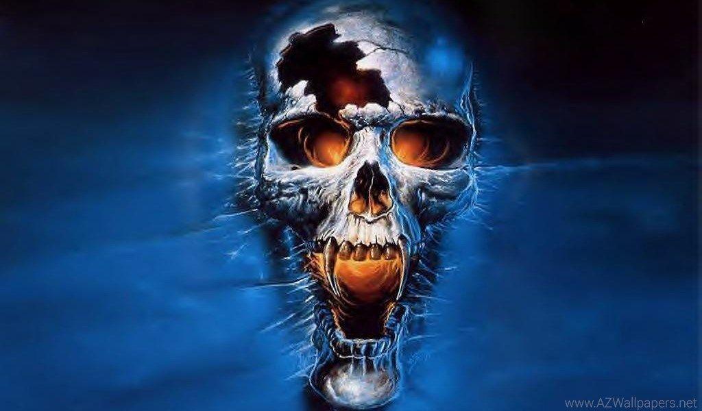 Skull Wallpaper,flaming Skull Wallpapers & Evil Skull