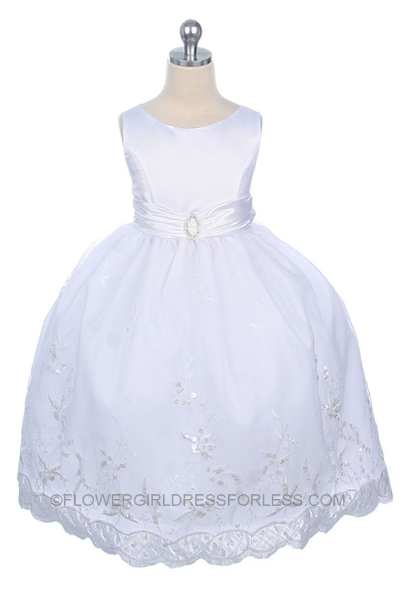 Flower girl dress style all white sale size or