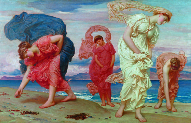 Greek Girls Picking Up Pebbles By The Sea Frederic Lord Leighton Whose Holland Park Home Is Exhibitions Setting