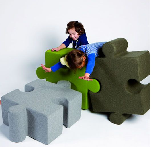 Innovation Playground Childrenu0027s Furniture Design Puzzle Pouf