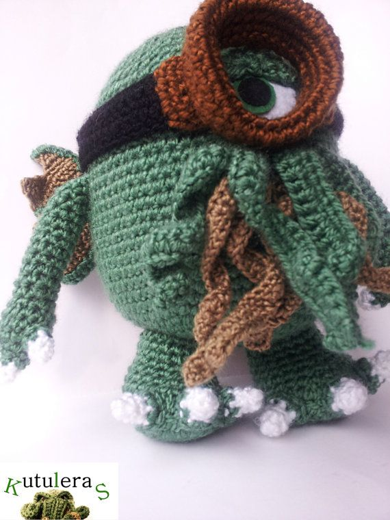 Crochet PATTERN Amigurumi Cthulhu Plush HP Lovecraft by