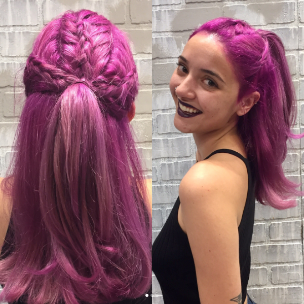 Purple Braided Hair Is Find This Pin And More On Manic Panic Mystic Heather