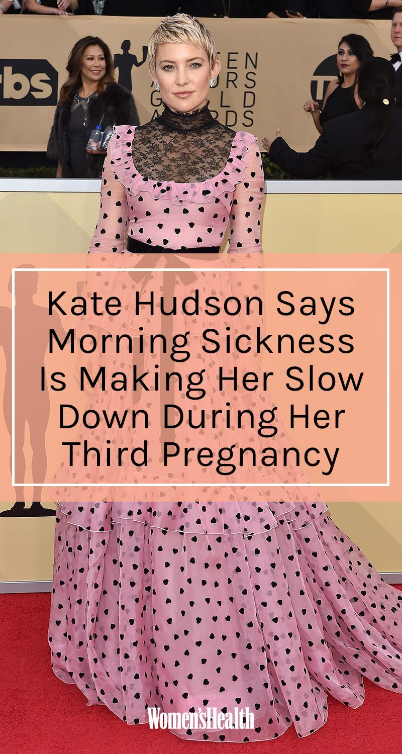 Kate Hudson Says Morning Sickness Is Forcing Her To Slow Down During Third Pregnancy