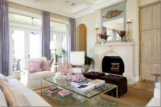 Interior Design Ideen - 50 luftige feminine Wohnzimmer Designs - wohnzimmer ideen hell